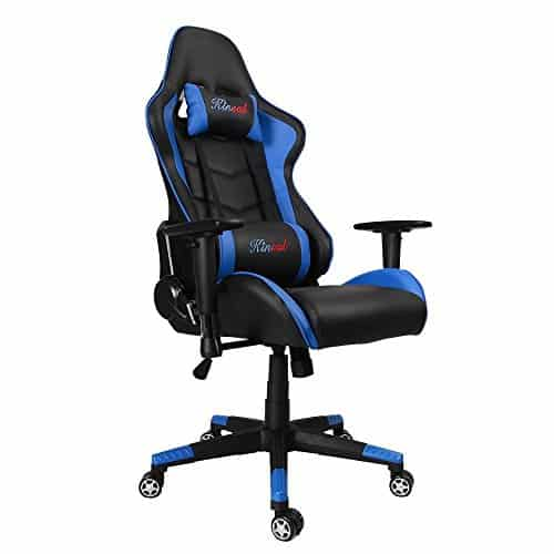 Kinsal-Gaming-Chair-High-back-Computer-Chair-Ergonomic-Racing-Chair-Leather-Premium-Lumbar-Support-Swivel-Executive-Esports-Office-Chair-Including-Headrest-and-Lumbar-Support-Pillow