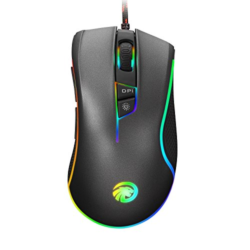 HIRALIY-F300-4000-DPI-9-Programmable-Buttons-RGB-Backlit-Wired-Optical-Gaming-Mouse-Grey
