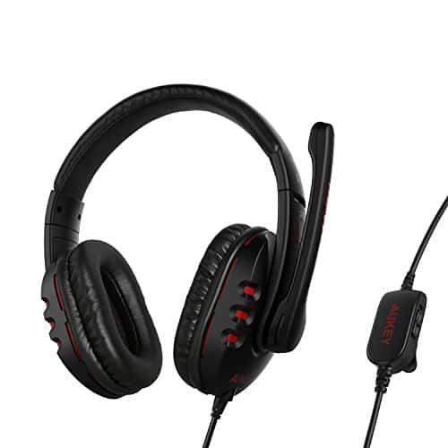 AUKEY-Gaming-Headset-Wired-Over-head-Stereo-with-Microphone-Volume-Control-for-PC-Tablet-Laptop