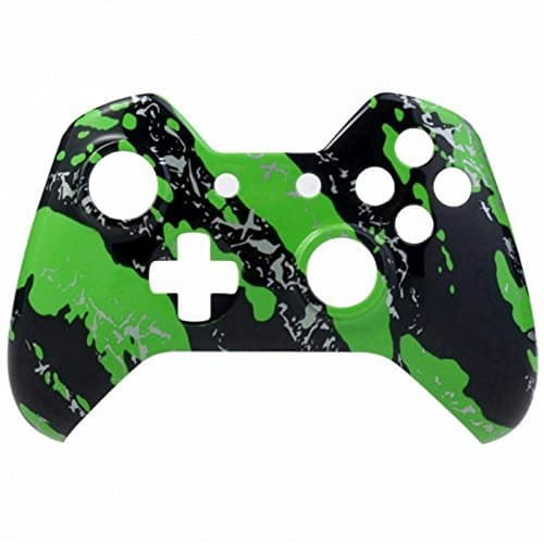 Mod-Freakz-Xbox-One-Controller-Front-Shell-Hydro-Dipped-Green-Splatter