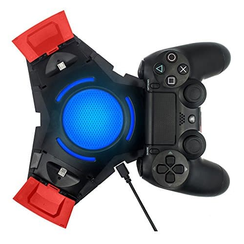 Vinpie-PS4-Controller-Charger-Docking-Station-Tripple-Charging-Station-with-BLUE-LED-LIGHT-for-PS4-Playstation-4-DS4-DualShock-4-Controllers