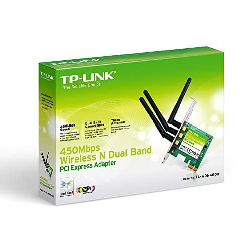 TP-LINK-N900-24GHz-or-5GHz-up-to-450Mbps-Wireless-Dual-Band-PCI-Express-Adapter-for-Windows-TL-WDN4800